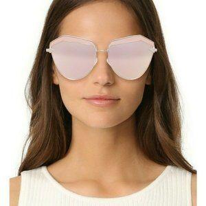 🆕Karen Walker Sunglasses Cat Eye Gold Pink Mirror